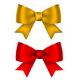 golden and red shiny bow for design isolated on vector image