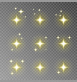 golden twinkle sparkle isolated on transpar vector image vector image
