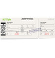 green pattern of airline boarding pass vector image vector image