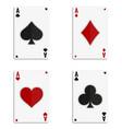 grunge poker card vector image vector image