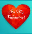 happy valentines day polygonal heart vector image