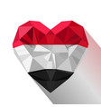 heart flag of the republic of yemen vector image vector image