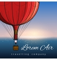 Hot air balloons travelling company poster vector image