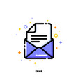 icon of email for help and support concept vector image
