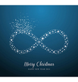 Infinite Merry Christmas and Happy New Year stars vector image