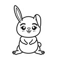 isolated cute standing rabbit vector image vector image