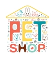 logo design template for pet shops animal vector image