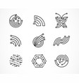 logo set - technology tech icons and symbols vector image vector image