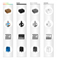 mail postman parcel and other web icon in vector image