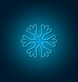 new year snowflake neon sign vector image vector image