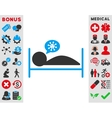 Patient Bed Icon vector image vector image