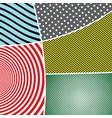 pop art elegant colorful composition vector image