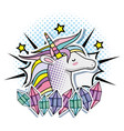 pop art unicorn vector image vector image
