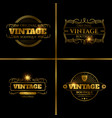 retro labels design for vintage cards vector image