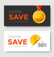 sale coupon template vector image