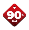 Sale ninety percent pricetag red vector image vector image
