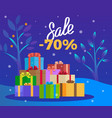 sale on winter holiday christmas promotion vector image vector image