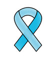scribble awareness ribbon vector image vector image