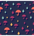 Seamless autumn background with umbrellas and rain vector image vector image