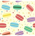 Seamless pattern with macarons vector image