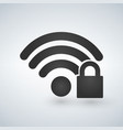 security wifi icon isolated on white vector image