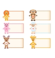 Set animal blank template for text Lion giraffe vector image vector image