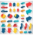 set flat design elements arrows and banners vector image vector image