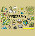set of geography symbols equipments for web vector image vector image