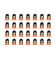 Set of people emoticon isolated on white vector image vector image