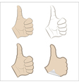 Set of thumbs up vector image vector image