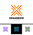 simple letter x logo arrow up line logotype vector image