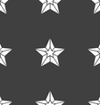 Star icon sign Seamless pattern on a gray vector image