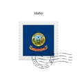 State of Idaho flag postage stamp vector image vector image