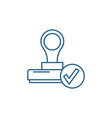 the confirmation line icon concept the vector image vector image
