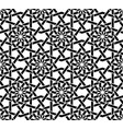 traditional arabic black and white seamless vector image vector image