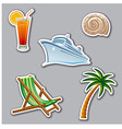 vacation stickers vector image vector image
