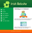Webdesign for site about Ireland vector image