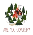 Wild fire in a forest Burning house vector image vector image
