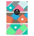 Collection of abstract backgrounds UI material vector image