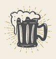 hand drawn vintage beer mug on white background vector image