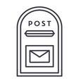 post box line icon sign on vector image