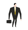 Businessman with briefcase Manager in black formal vector image