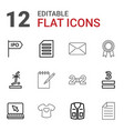 12 blank icons vector image vector image