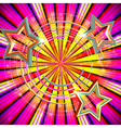 Abstract background with Light rays and stars vector image vector image