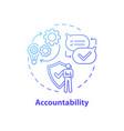 accountability concept icon