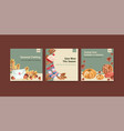 ads template with autumn daily concept design vector image vector image
