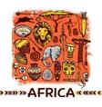 Africa Sketch vector image