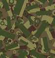 Army texture of nuts and bolts Soldier green vector image