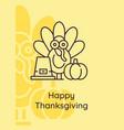 autumn harvest feast postcard with linear glyph vector image