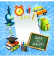 Back to school concept template vector image